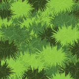 Vector meadow grass seamless texture. in a cartoon style. Vector meadow grass seamless texture background in a cartoon style. Fully editable and recolorable royalty free stock photography