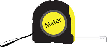 Vector measure tape tool Royalty Free Stock Photography