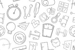 Vector Measuring pattern. Measuring seamless background royalty free illustration