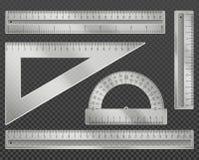 Vector measuring tools Stock Photos