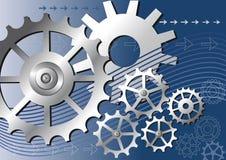 Vector mechanical background Stock Photos