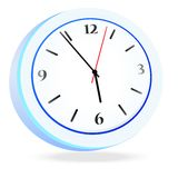 Vector mechanical clock Royalty Free Stock Image