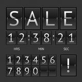 Vector mechanical timtable sale Royalty Free Stock Photography