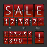 Vector mechanical timtable sale Royalty Free Stock Images