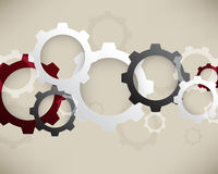 Vector mechanical wheels infographics elements background Royalty Free Stock Photos