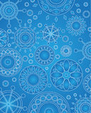 Vector Medallion Design Blue. Vector design of geometric medallions in blue hues Stock Photography