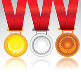 Vector medals illustration isolated on white Stock Photography