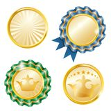 Vector medals set Stock Images