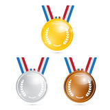 Vector Medals Set Stock Photography