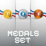 Vector Medals Set Stock Photos