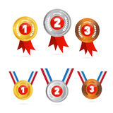 Vector Medals Sets Stock Photos