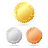 Vector medals Stock Images