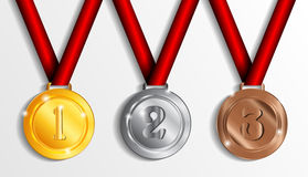 Vector medals Stock Photos