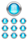 Vector Media buttons. Brilliant media button set. Nice detail to buttons Vector Illustration
