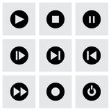 Vector media buttons icon set Stock Photos