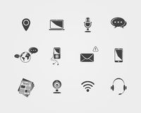 Vector Media and communication icons. Stock Image