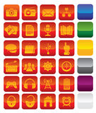 Vector media icons Royalty Free Stock Photos