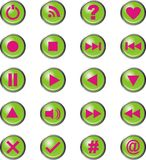 Vector media Icons green Stock Photo