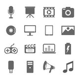 Vector of media icons isolated on white background Stock Image