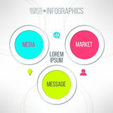 Vector media market message colorful infographic Royalty Free Stock Images