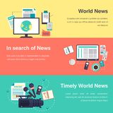 Vector media objects. World news Royalty Free Stock Photography