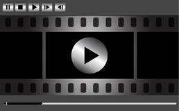 Vector media player design Stock Images