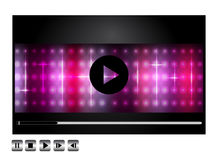 Vector media player design Royalty Free Stock Images