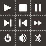 Vector media player icon set Stock Photo