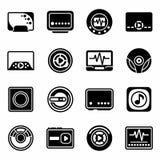 Vector Media player icon set Stock Photos