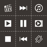 Vector media player icons set Stock Image