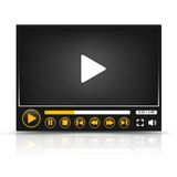 Vector media player interface Stock Image
