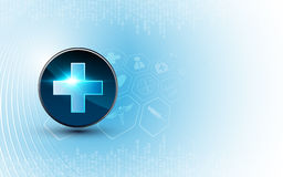 Vector medical background technology innovation concept design. Eps 10 vector Stock Image