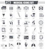Vector Medical black icon set. Dark grey classic icon design for web. Vector Medical black icon set. Dark grey classic icon design for web Royalty Free Stock Photo