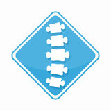 Vector medical diagnostic spine center logo vector illustration