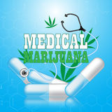 Vector medical and health care cannabis concept Royalty Free Stock Photo