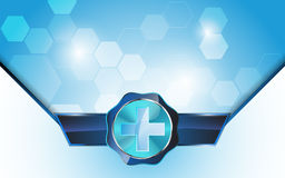 Vector medical health care concept background Royalty Free Stock Images