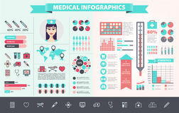 Vector medical, health care, hospital, doctor Royalty Free Stock Image