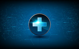 Vector medical health care sci fi design background technology innovation concept. Eps 10 vector Stock Images