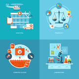 Vector medical and health icons set for web design, mobile apps. Stock Photos