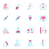 Vector medical and health line icons Stock Photography