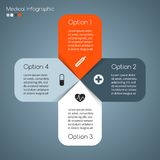 Vector medical healthcare plus sign infographic. Stock Photo