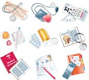Vector medical icon set Royalty Free Stock Images