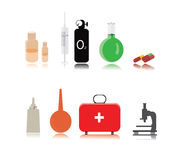 Vector Medical icons. On a white background Royalty Free Stock Photography