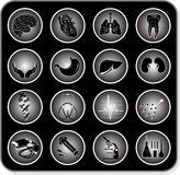Vector medical icons. Black and white. Simply change Royalty Free Stock Image
