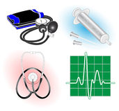 Vector medical icons. Color set. Simply change. Other medical icons you can see in my portfolio Stock Photo