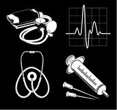 Vector medical icons. Black and white. Simply change. Other medical icons you can see in my portfolio Royalty Free Stock Image