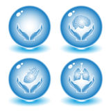 Vector medical icons. Blue set. Simply change. Other medical icons you can see in my portfolio Royalty Free Stock Photography