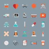 Vector Medical Icons 25 Set. Flat Stock Photos
