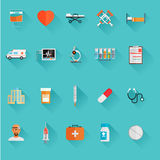 Vector Medical Icons 20 Set. Flat vector Stock Image