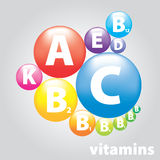 Vector stamp nutrition. Vector medical logo vitamins useful products Stock Image